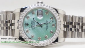 Rolex Date Just Automatic S/S 36MM Diamonds Bezel Sapphire RXG298