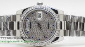 Rolex Day Date Automatic S/S 36MM Diamonds Sapphire RXG383